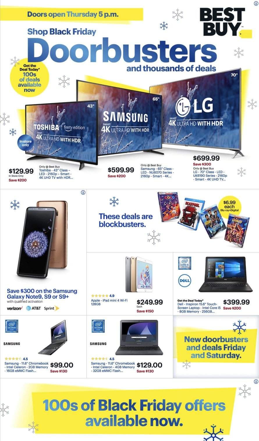 Best Buy Black Friday 2018 Page 1