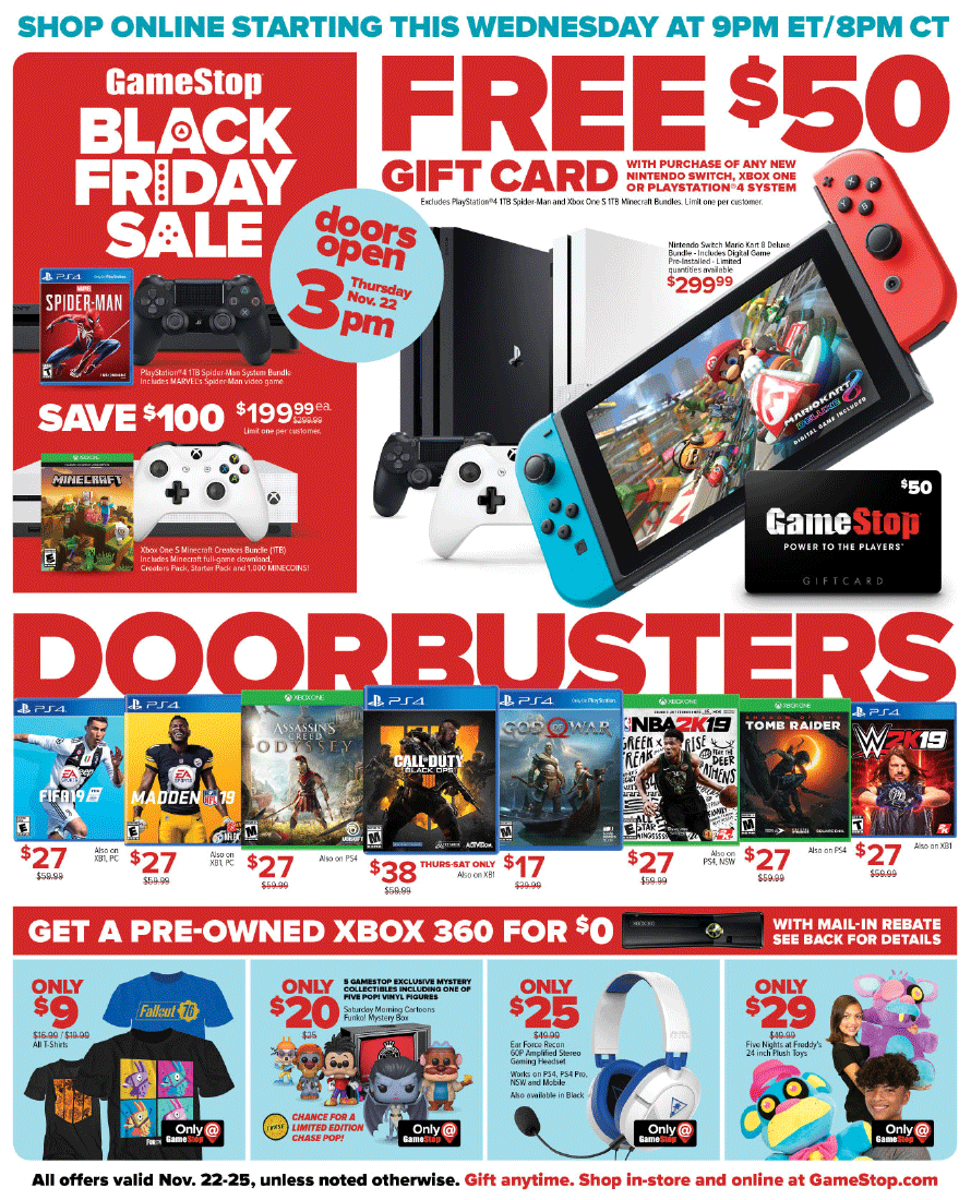 GameStop Black Friday 2018 Page 1