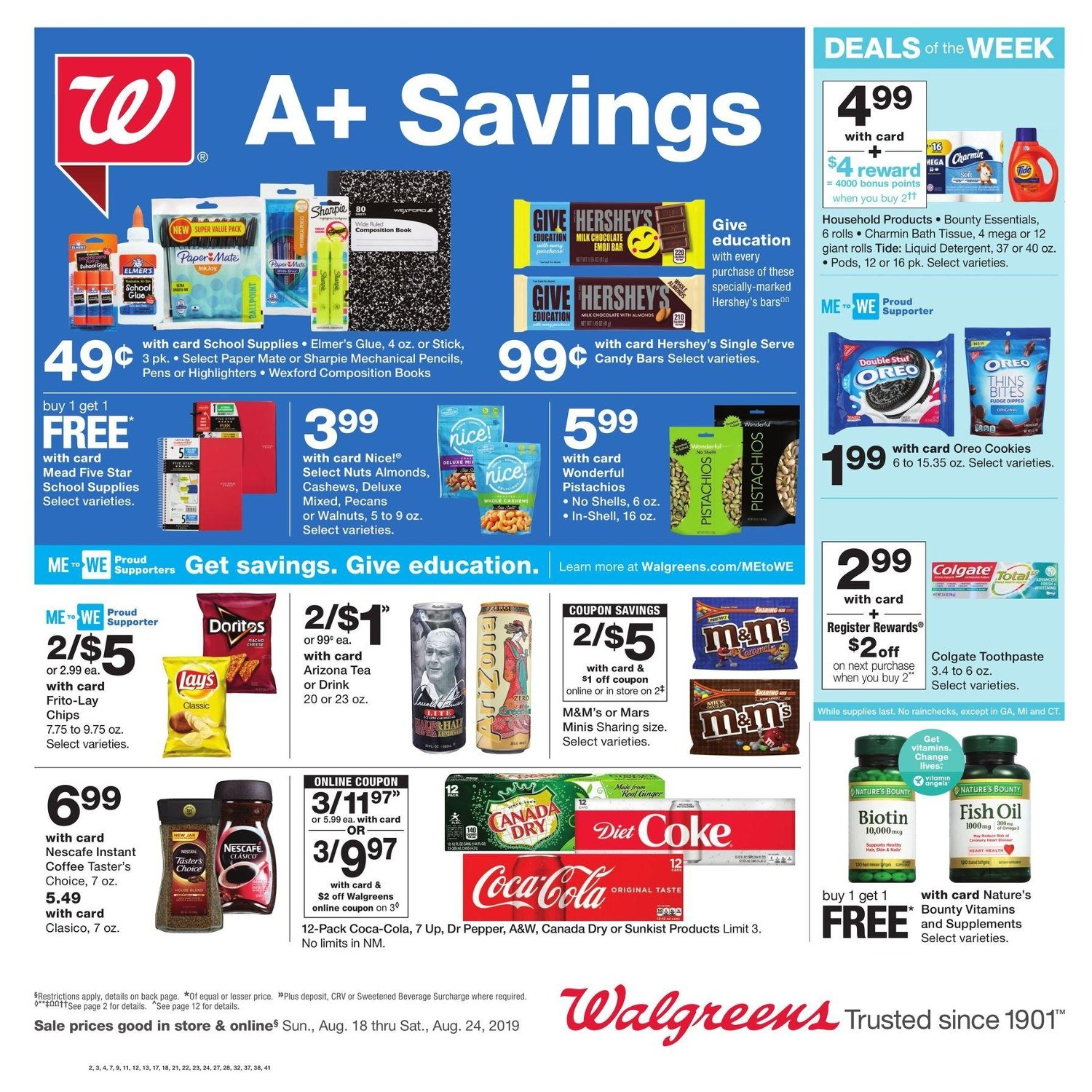 Walgreens Weekly August 18 - 24, 2019 Page 1