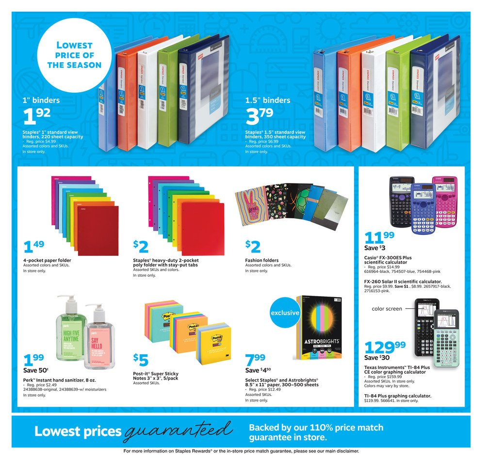 Staples Weekly September 1 - 7, 2019 Page 7