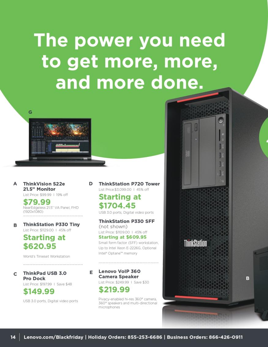 Lenovo Black Friday and Cyber Monday 2019 Page 14