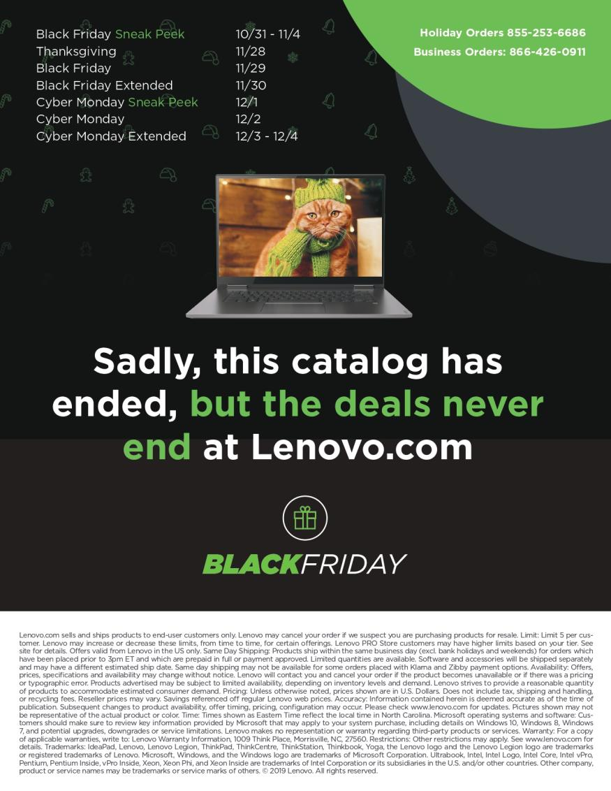 Lenovo Black Friday and Cyber Monday 2019 Page 30
