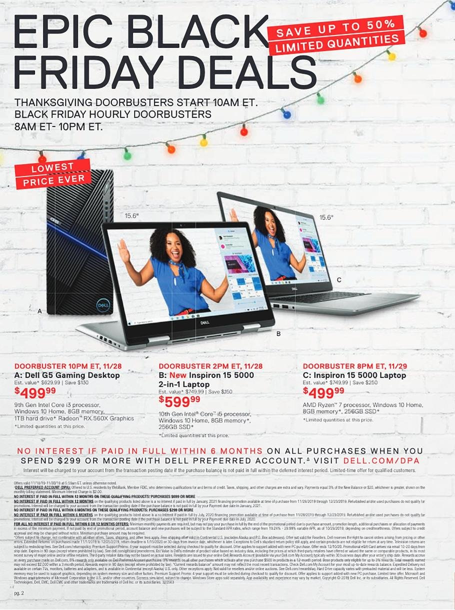 Dell Black Friday 2019 Page 3