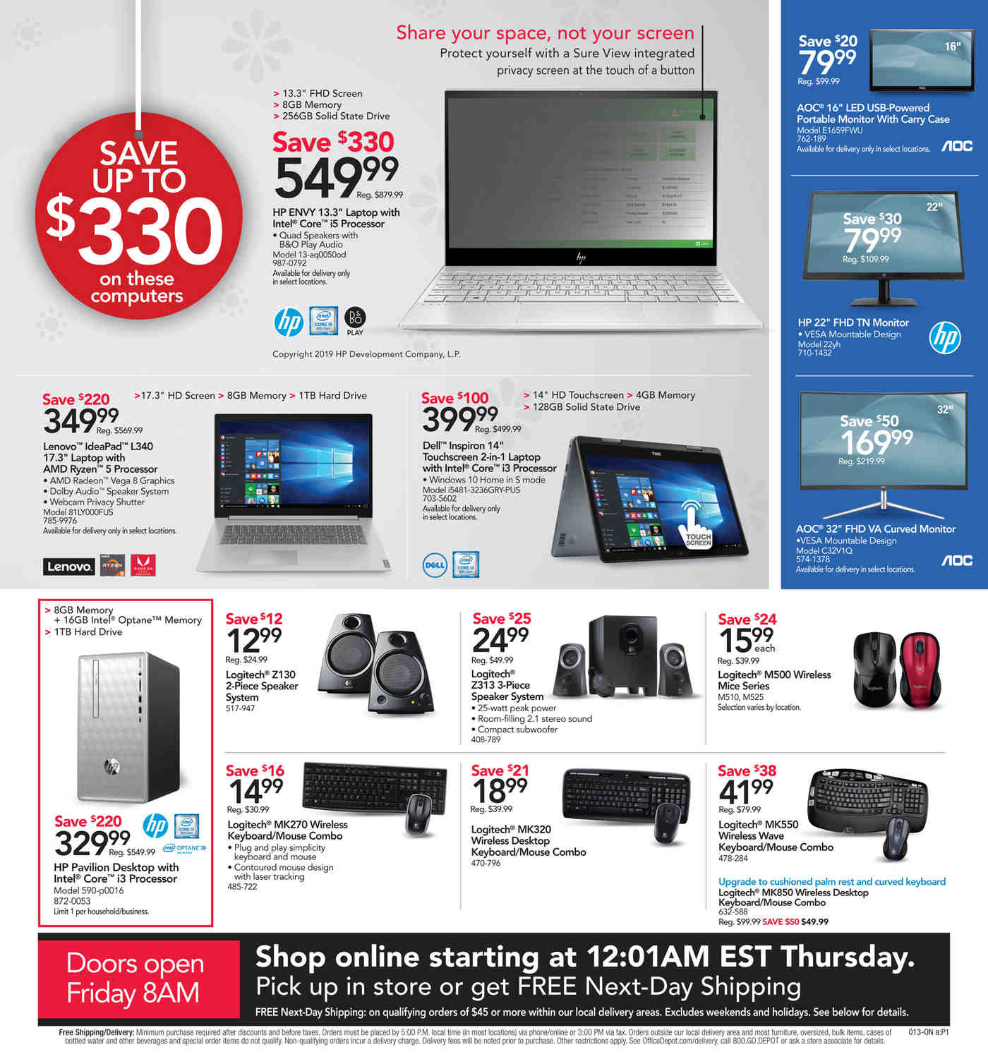 Office Depot and OfficeMax Black Friday 2019 Page 13