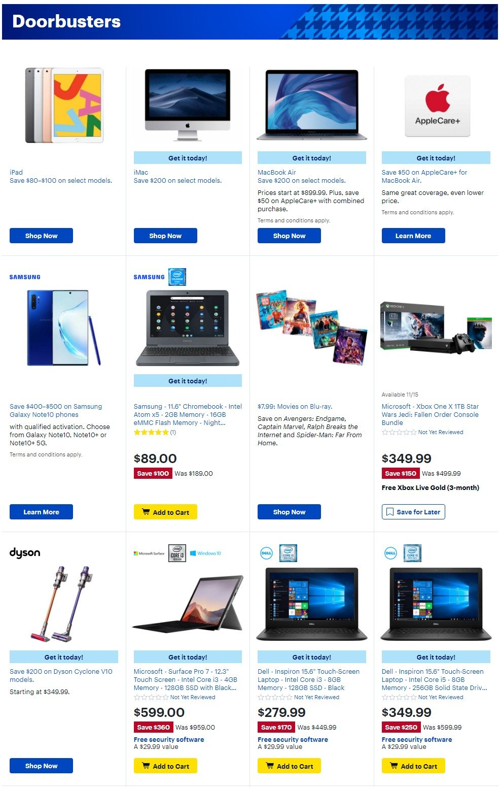 Best Buy Black Friday 2019 Page 2