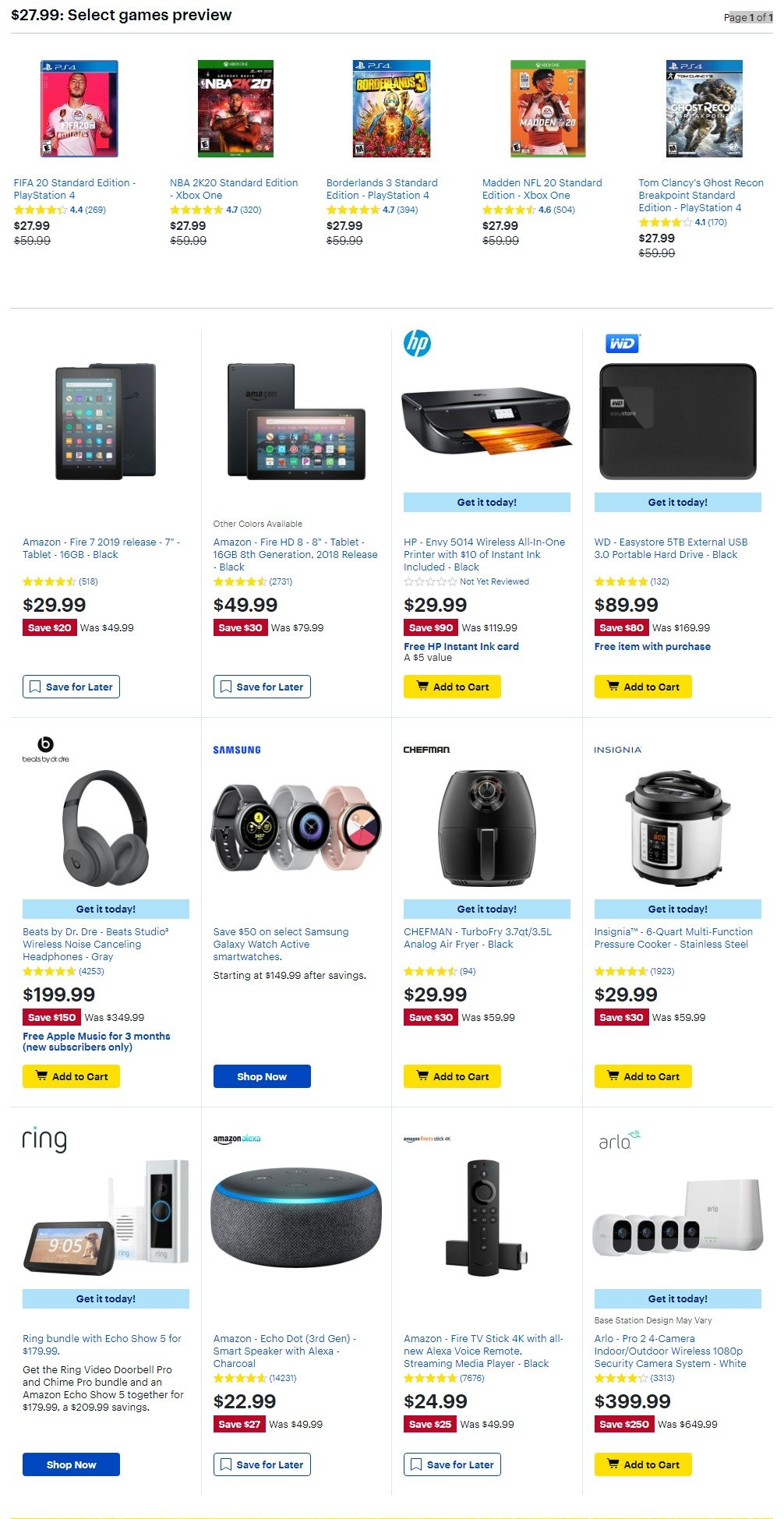 Best Buy Black Friday 2019 Page 4