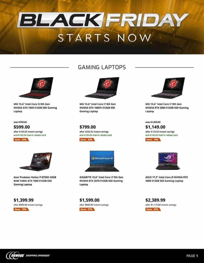 Newegg Black Friday 2019 Page 1