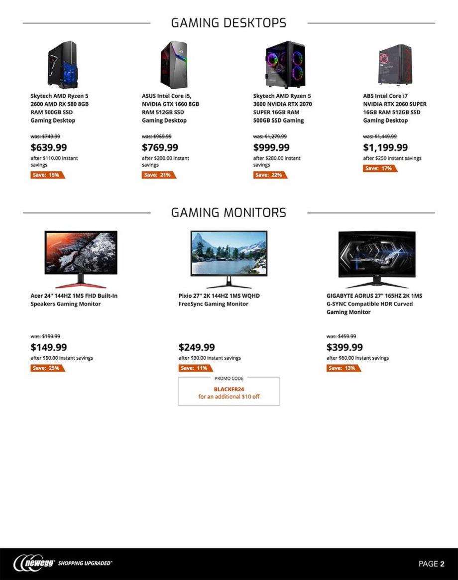 Newegg Black Friday 2019 Page 2