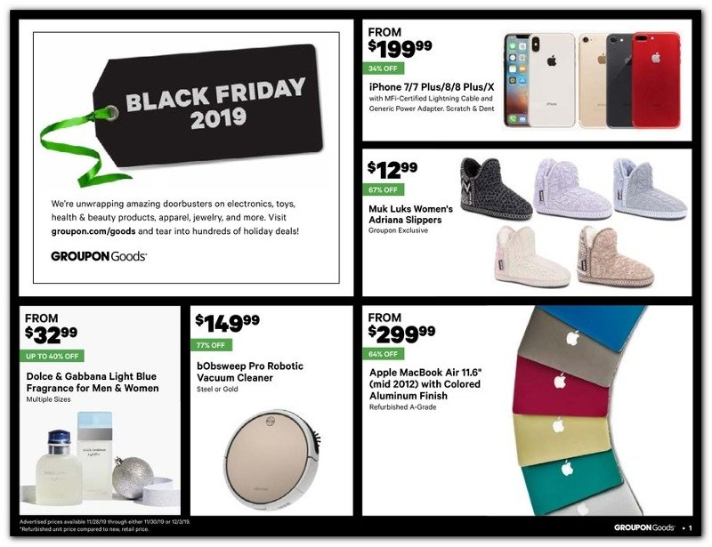 Groupon Black Friday 2019 Page 1