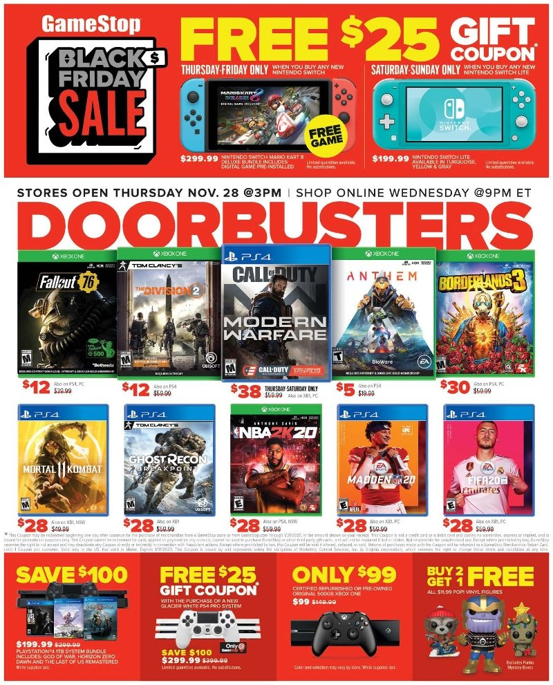 GameStop Black Friday 2019 Page 1