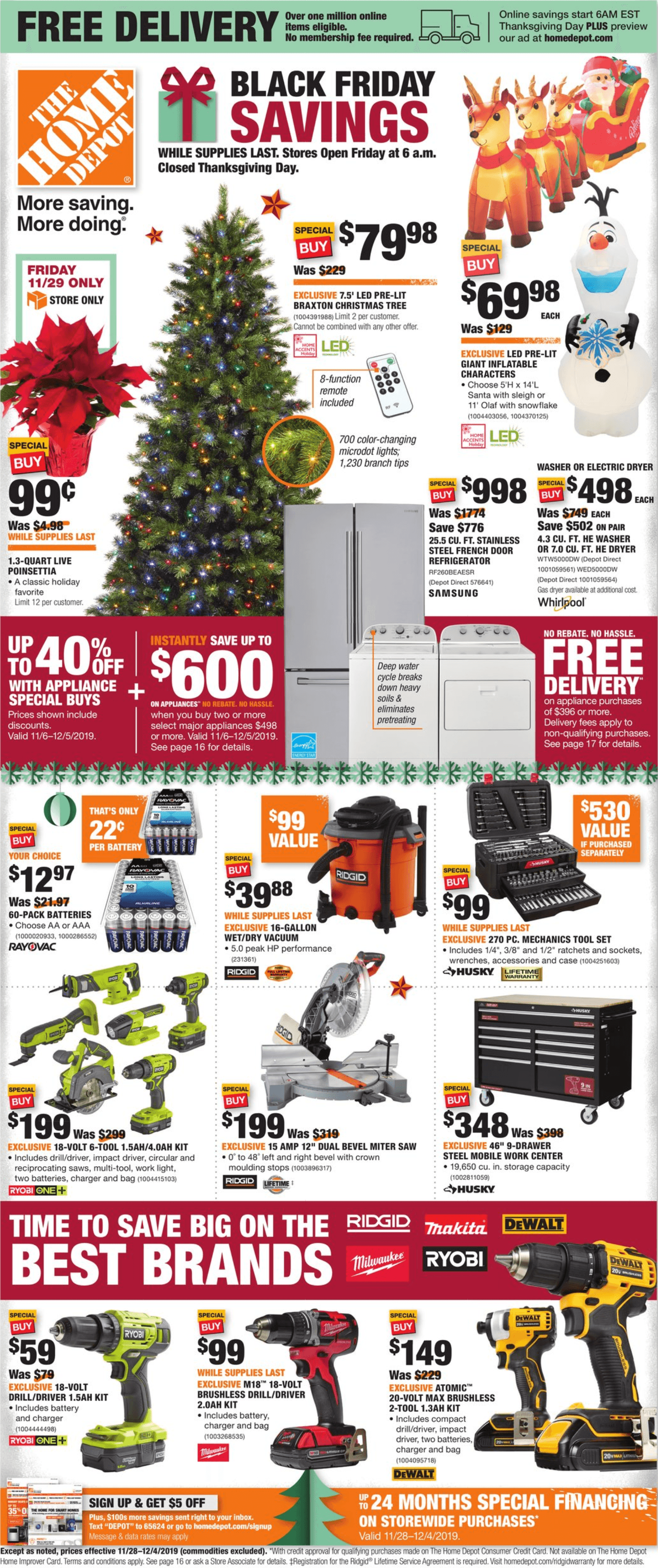 Home Depot Black Friday 2019 Page 1