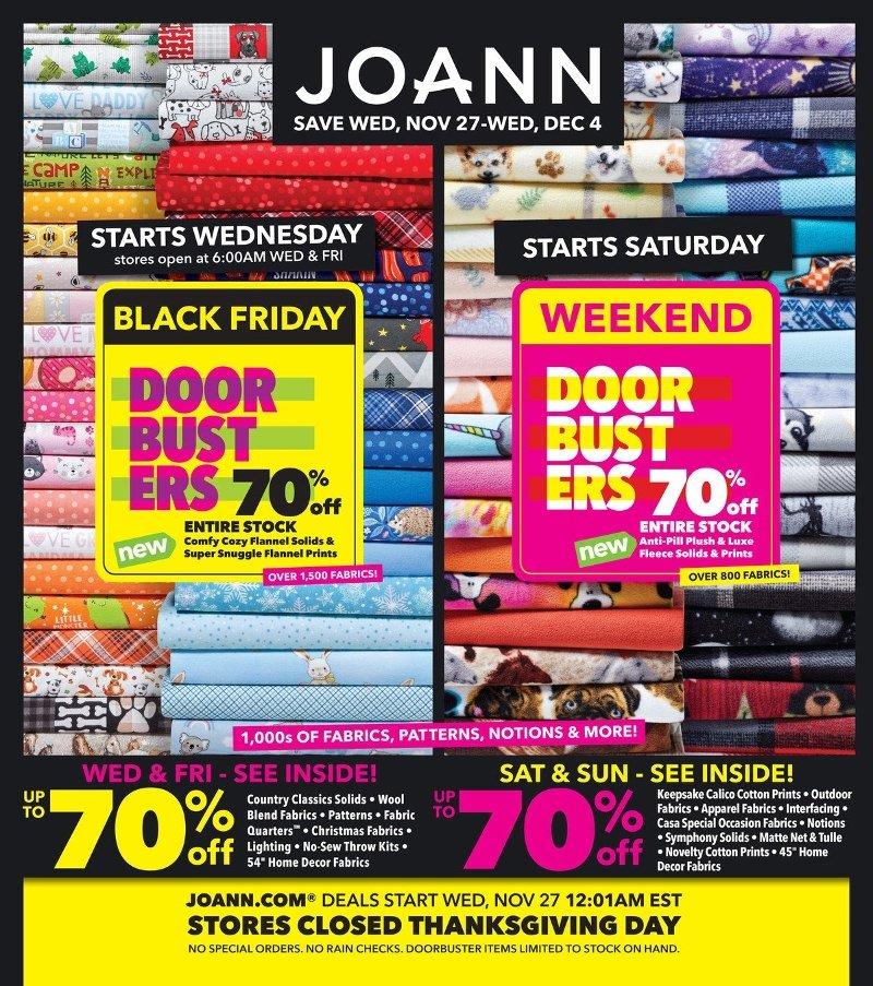 Joann Fabrics Black Friday 2019 Page 1