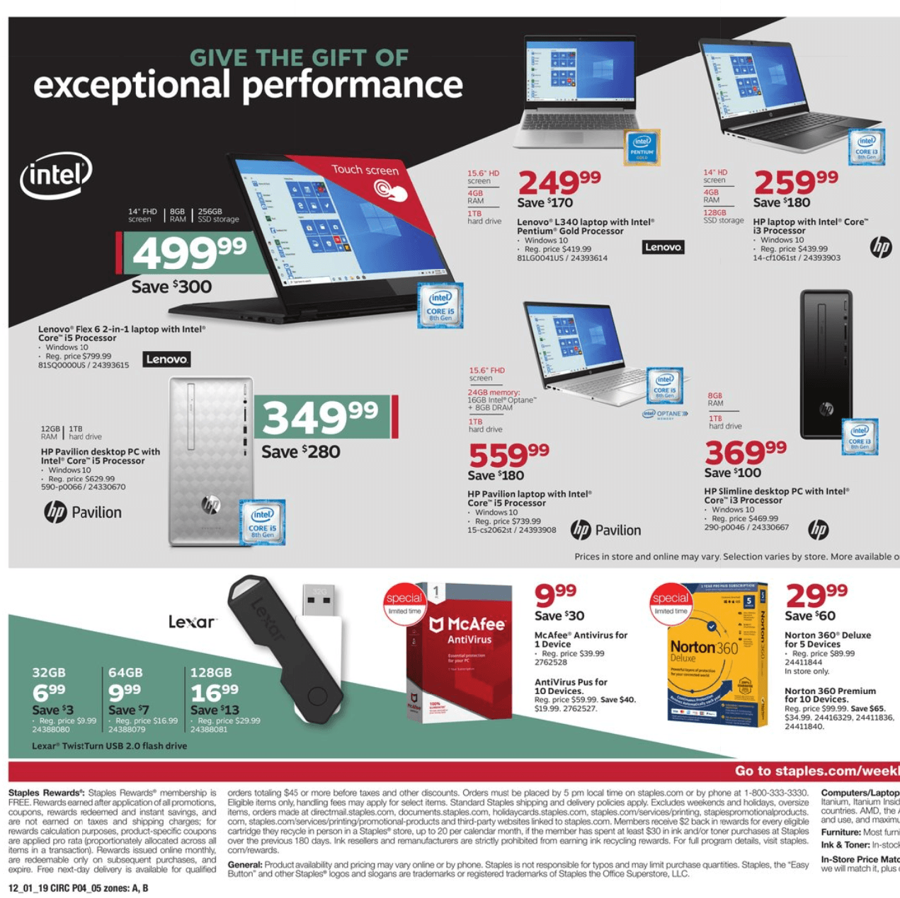 Staples Cyber Monday 2019 Page 4