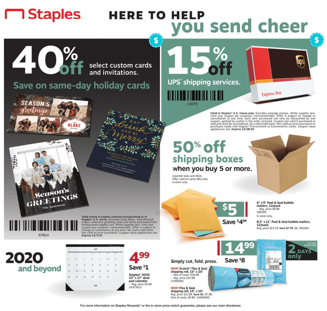 Staples Cyber Monday 2019 Page 8
