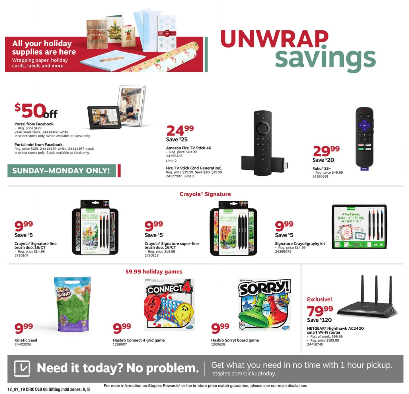 Staples Cyber Monday 2019 Page 14