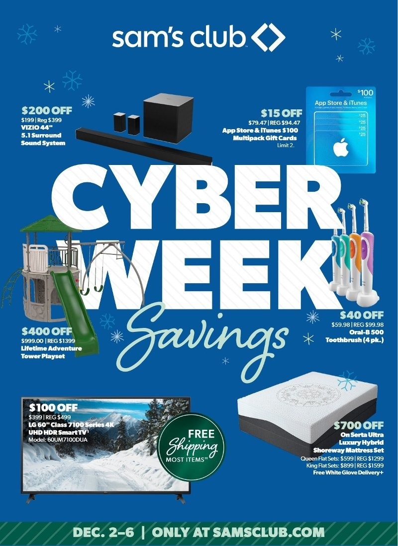 Sam's Club Cyber Monday 2019 Page 1