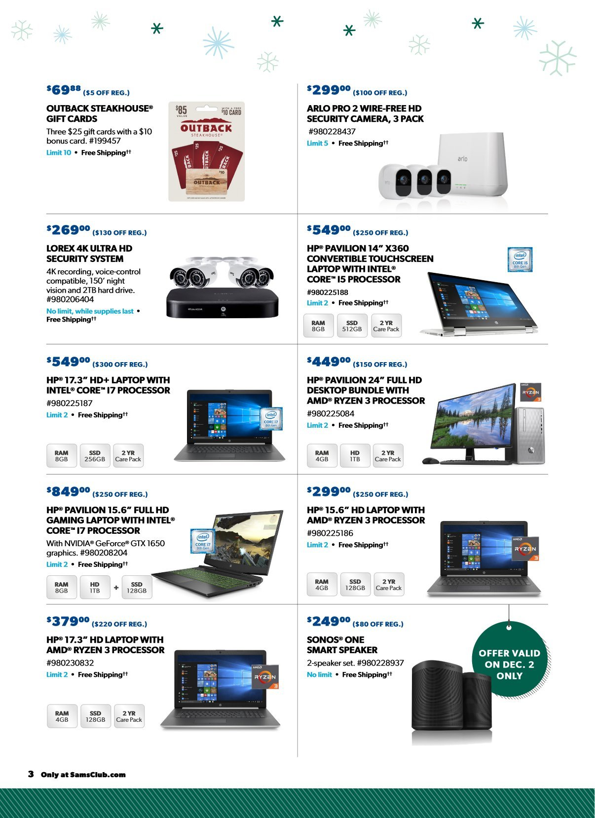 Sam's Club Cyber Monday 2019 Page 2