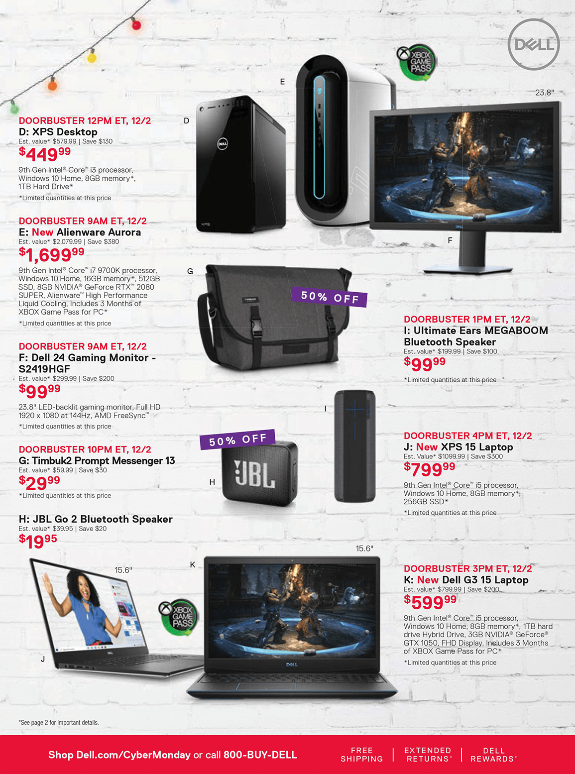 Dell Cyber Monday 2019 Page 3