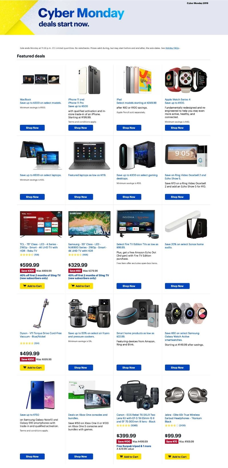 Best Buy Cyber Monday 2019 Page 1
