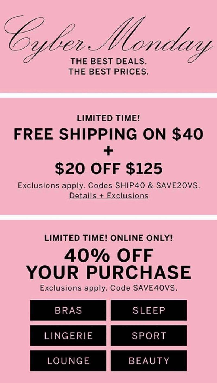 Victoria's Secret Cyber Monday 2019 Page 1