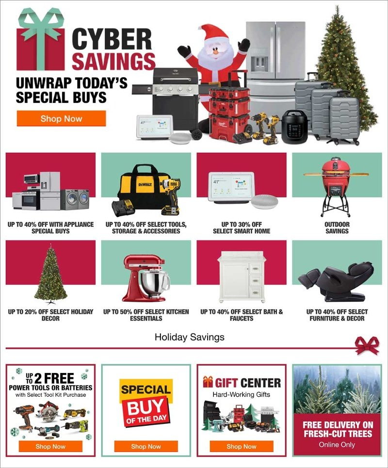 Home Depot Cyber Monday 2019 Page 1