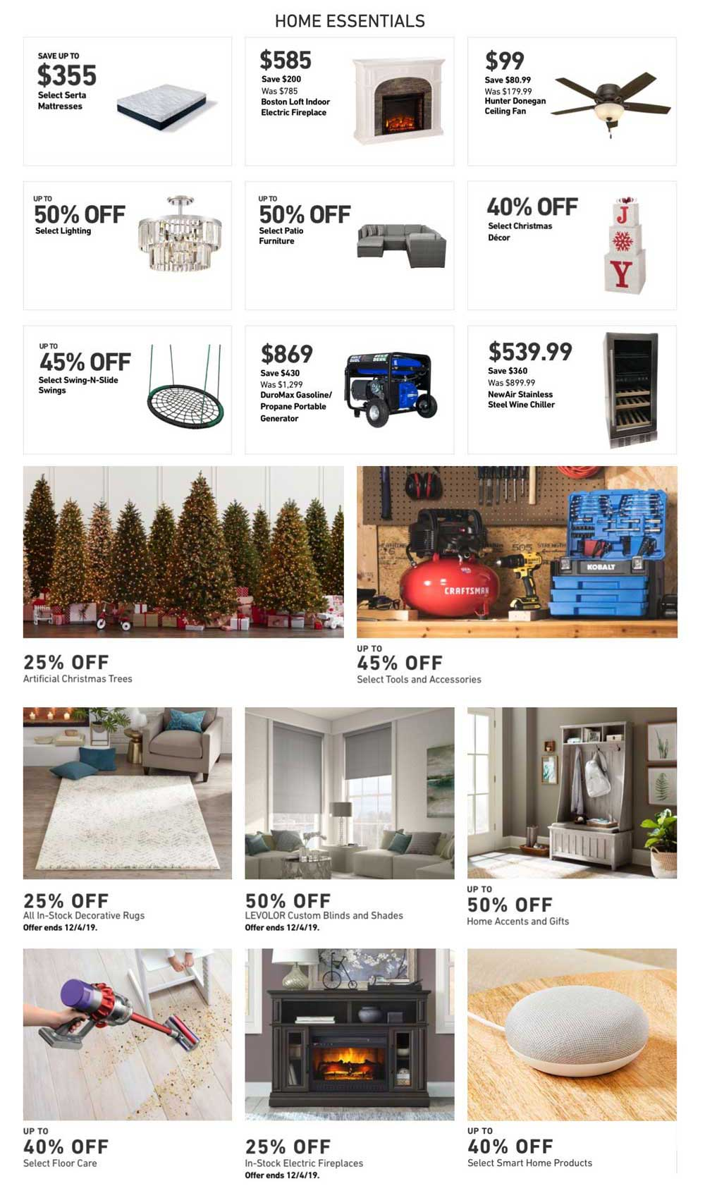 Lowe's Cyber Monday 2019 Page 2
