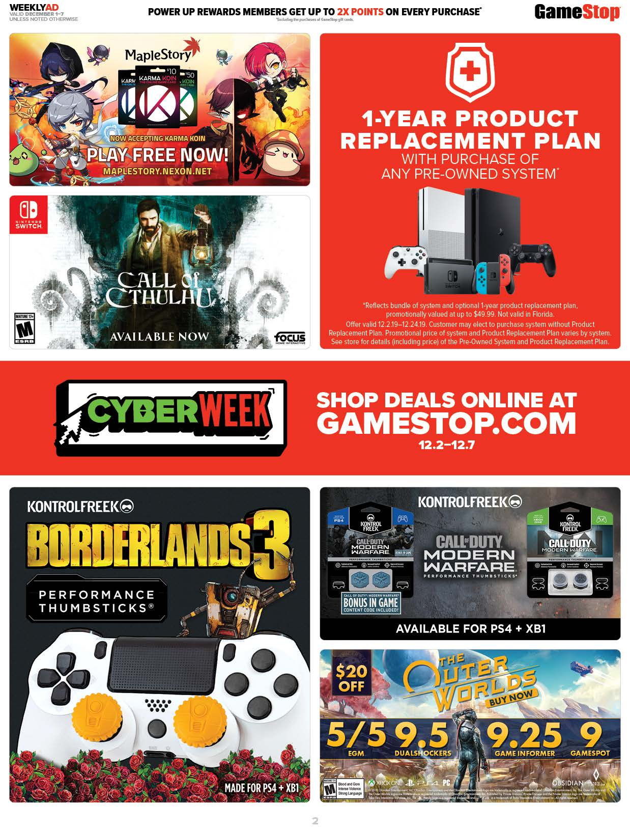 GameStop Cyber Monday 2019 Page 2