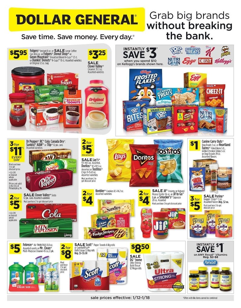 Dollar General Weekly January 12 - 18, 2020 Page 1