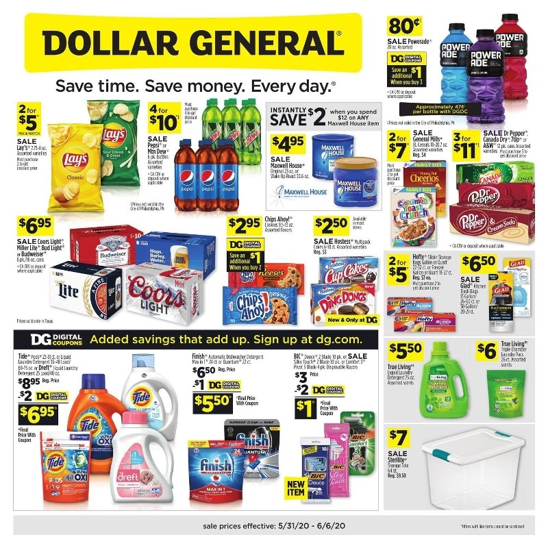 Dollar General Weekly May 31 - June 6, 2020 Page 1