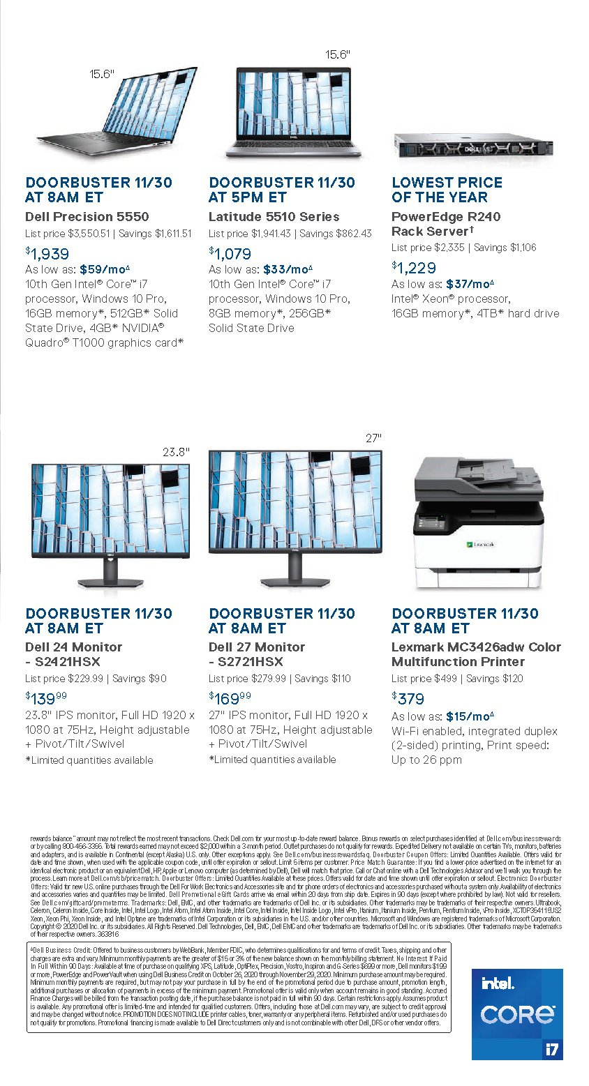 Dell Small Business Cyber Monday 2020 Page 2