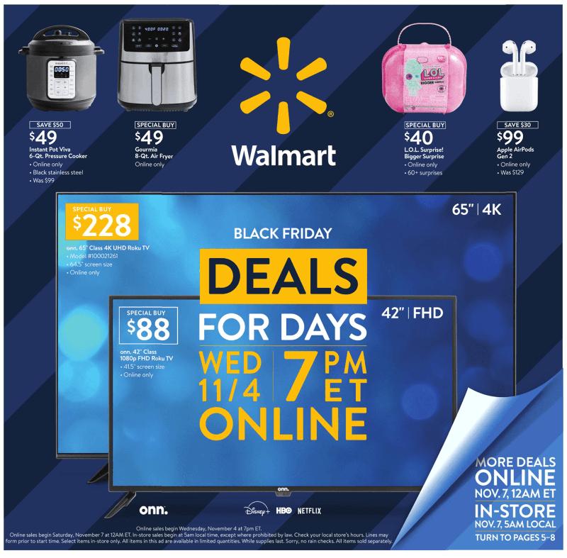 Walmart Black Friday November 4 - 8, 2020 Page 1