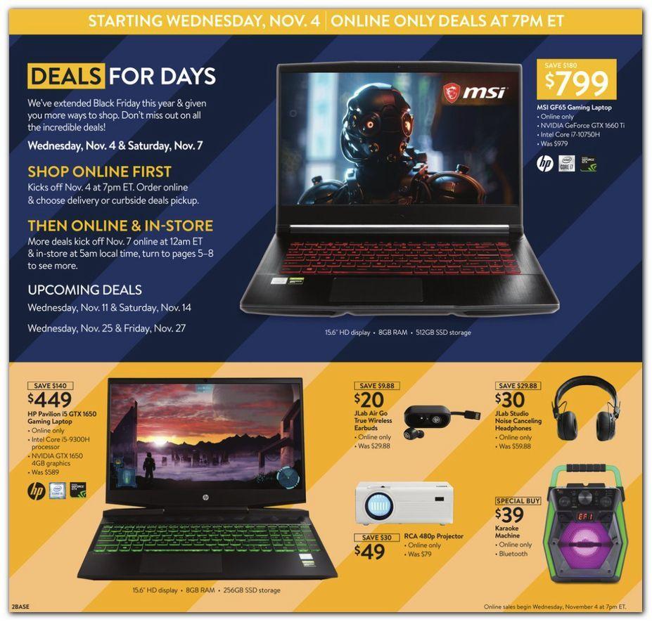 Walmart Black Friday November 4 - 8, 2020 Page 2