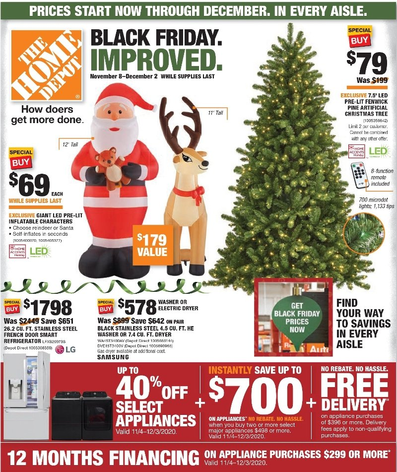 Home Depot Black Friday 2020 Page 1