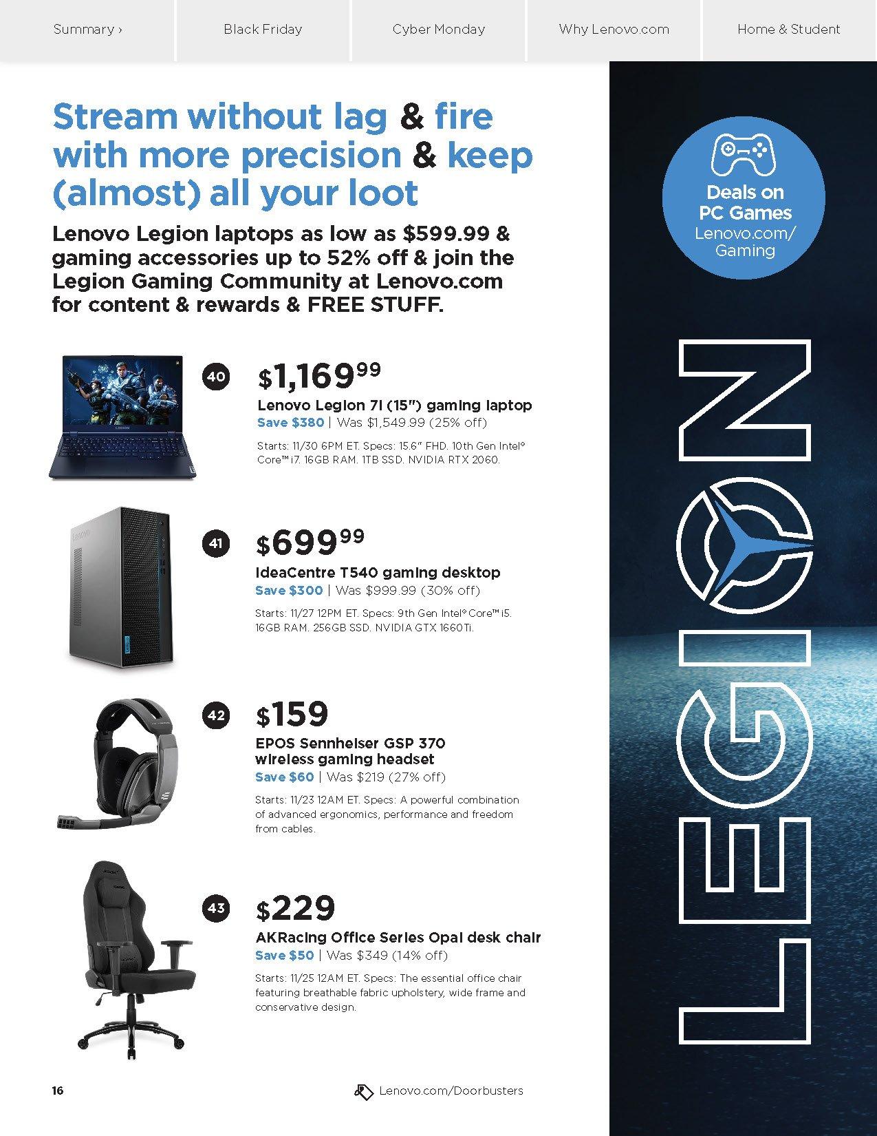 Lenovo Cyber Monday 2020 Page 16