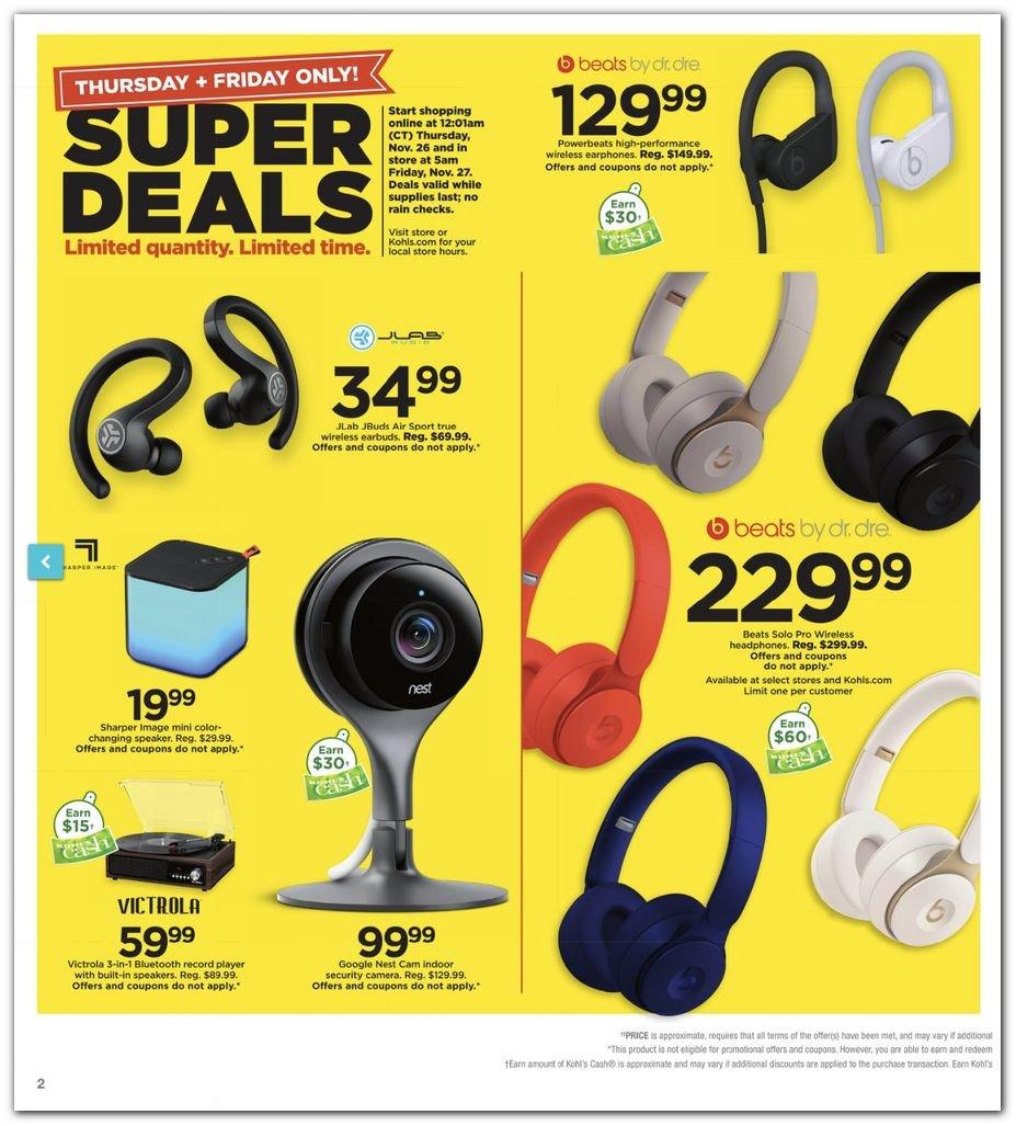 Kohl's Black Friday Super Deals 2020 Page 2