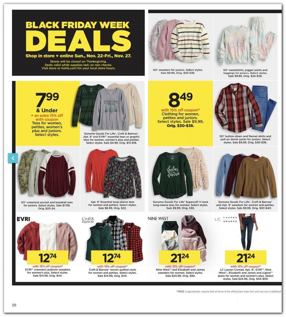 Kohl's Black Friday Super Deals 2020 Page 26