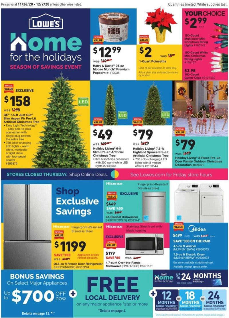Lowe's Black Friday and Cyber Monday 2020 Page 1
