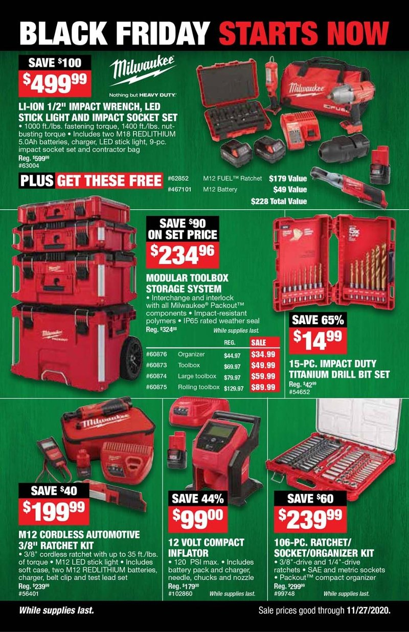 Northern Tool Black Friday 2020 Page 1
