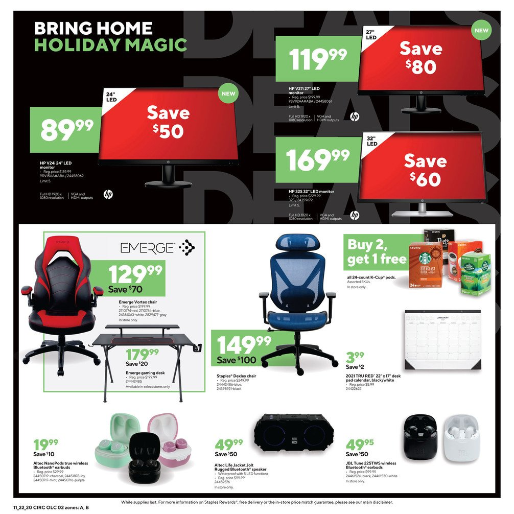 Staples Black Friday 2020 Page 2