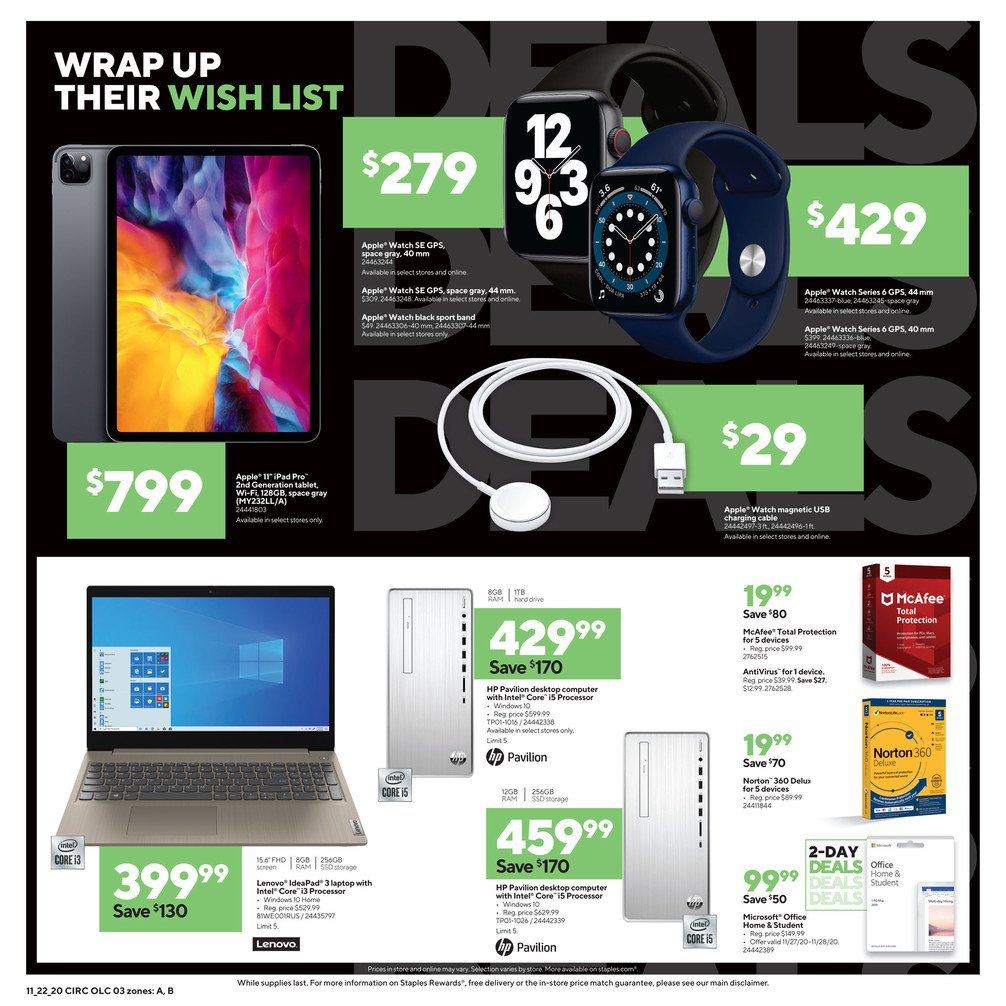 Staples Black Friday 2020 Page 3