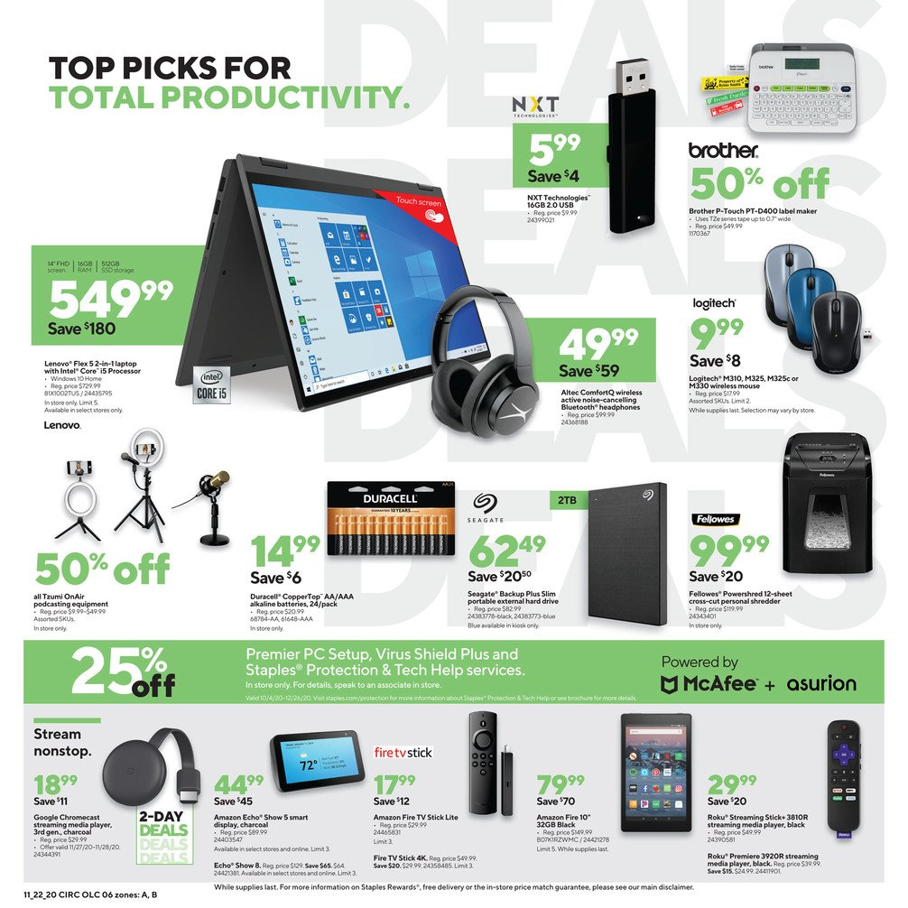 Staples Black Friday 2020 Page 6