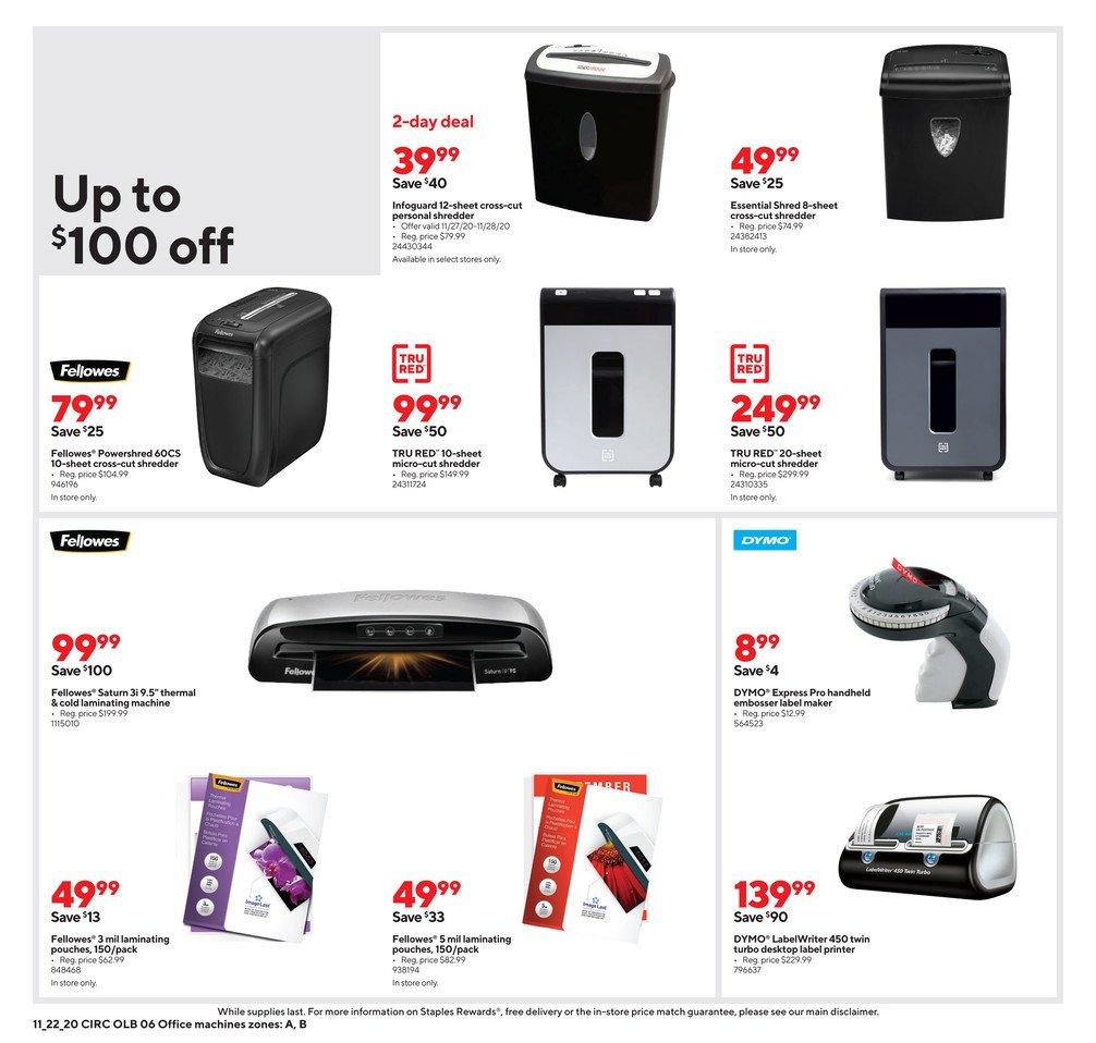 Staples Black Friday 2020 Page 15