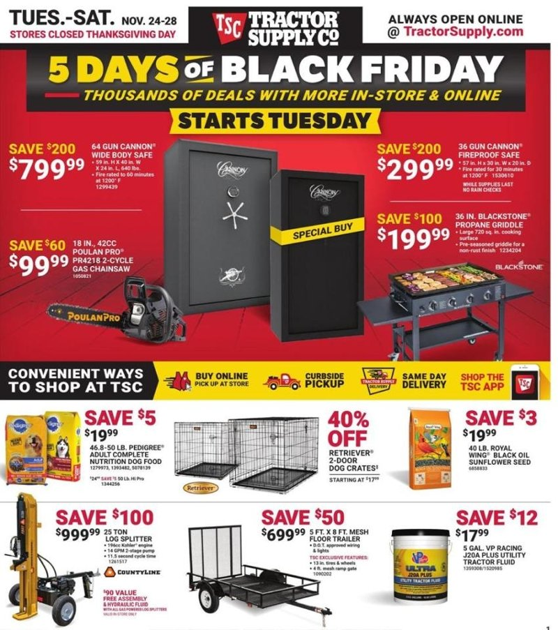 Tractor Supply Co. Black Friday 2020 Page 1