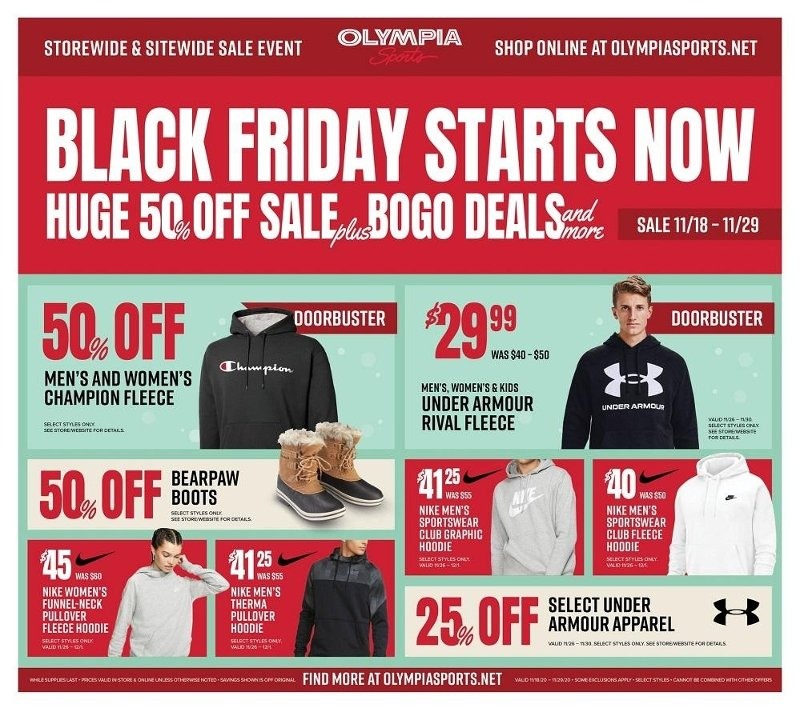 Olympia Sports Black Friday 2020 Page 1