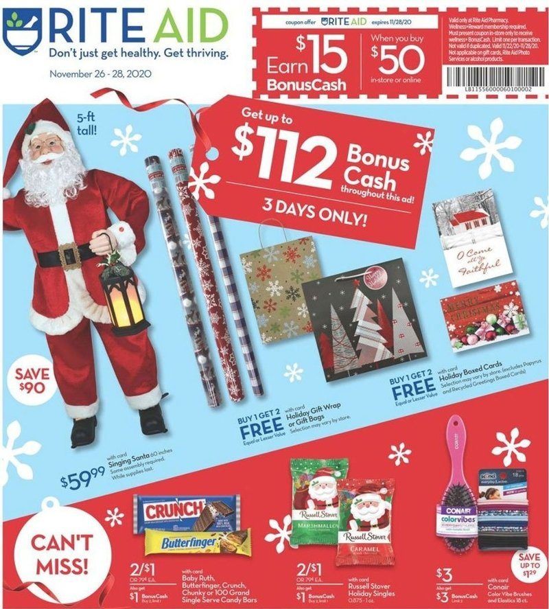 Rite Aid Black Friday 2020 Page 1