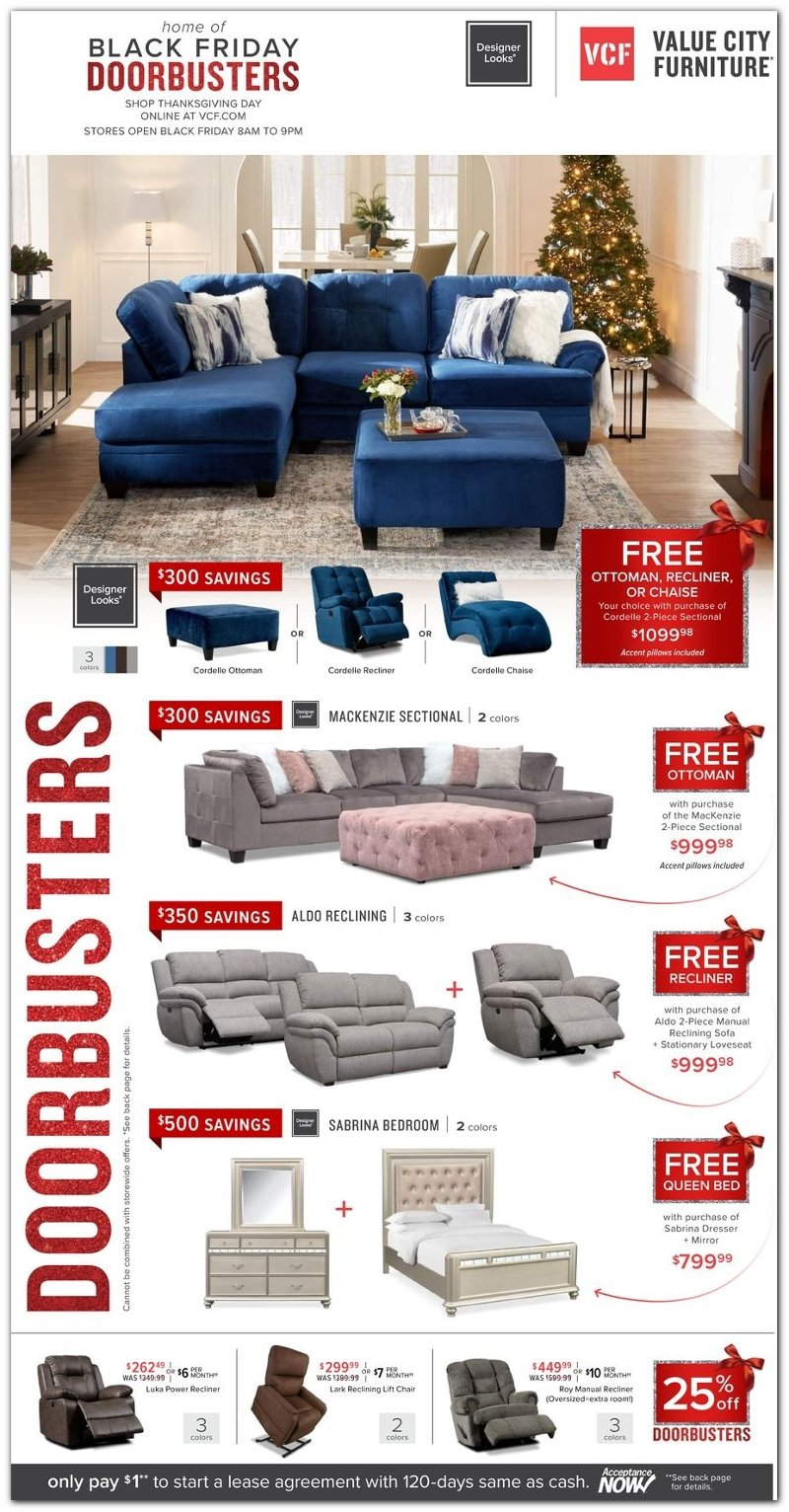 Value City Furniture Black Friday 2020 Page 1
