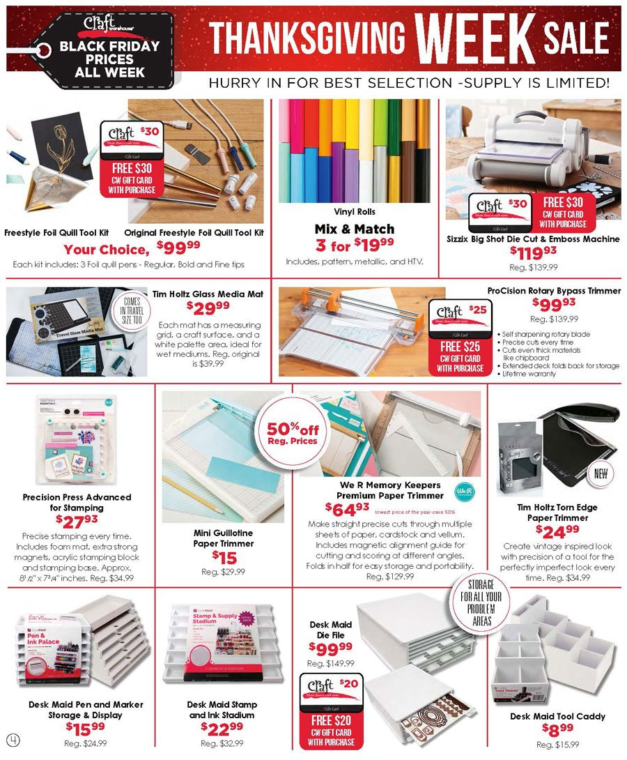 Craft Warehouse Black Friday 2020 Page 4