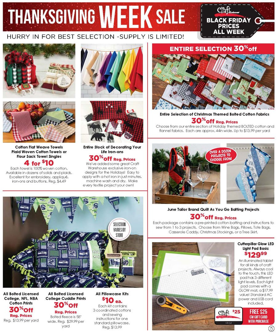 Craft Warehouse Black Friday 2020 Page 5