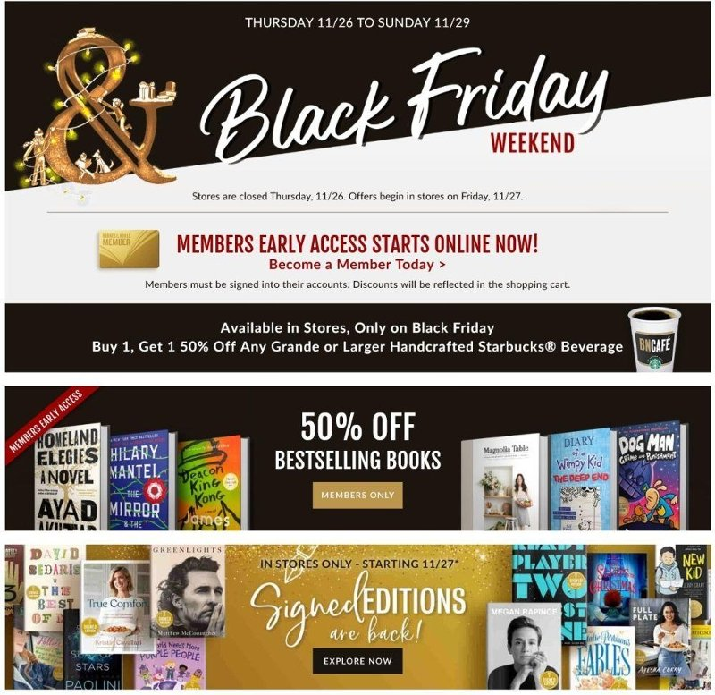 Barnes & Noble Black Friday 2020 Page 1