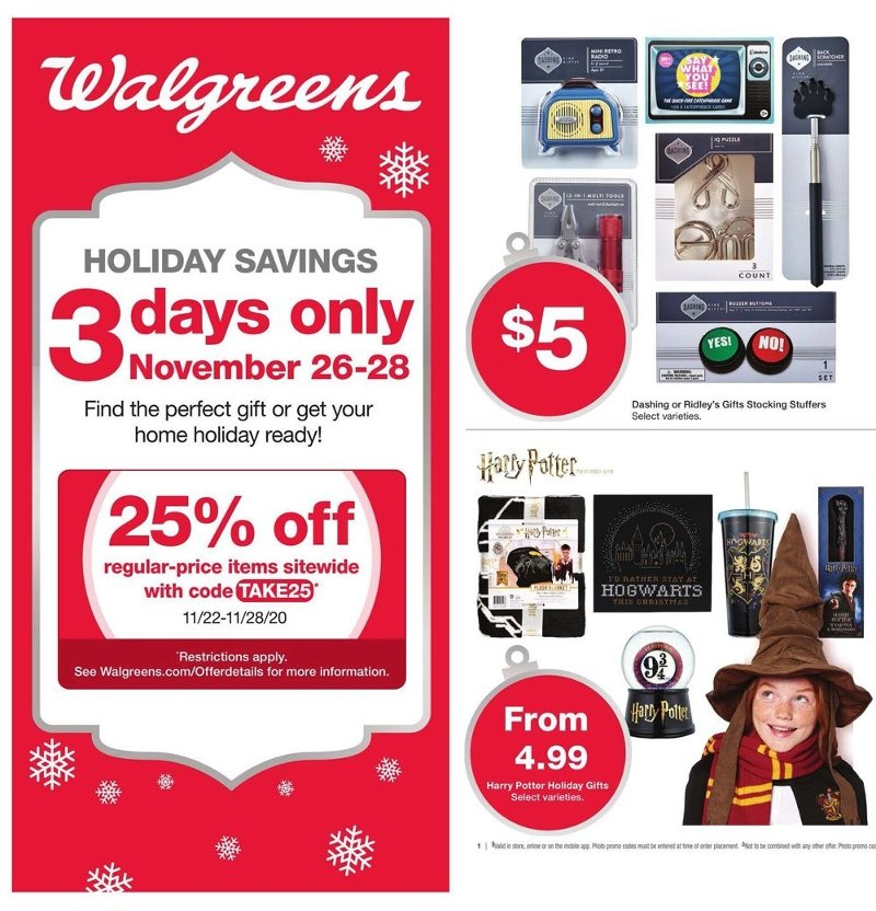 Walgreens Black Friday 2020 Page 1